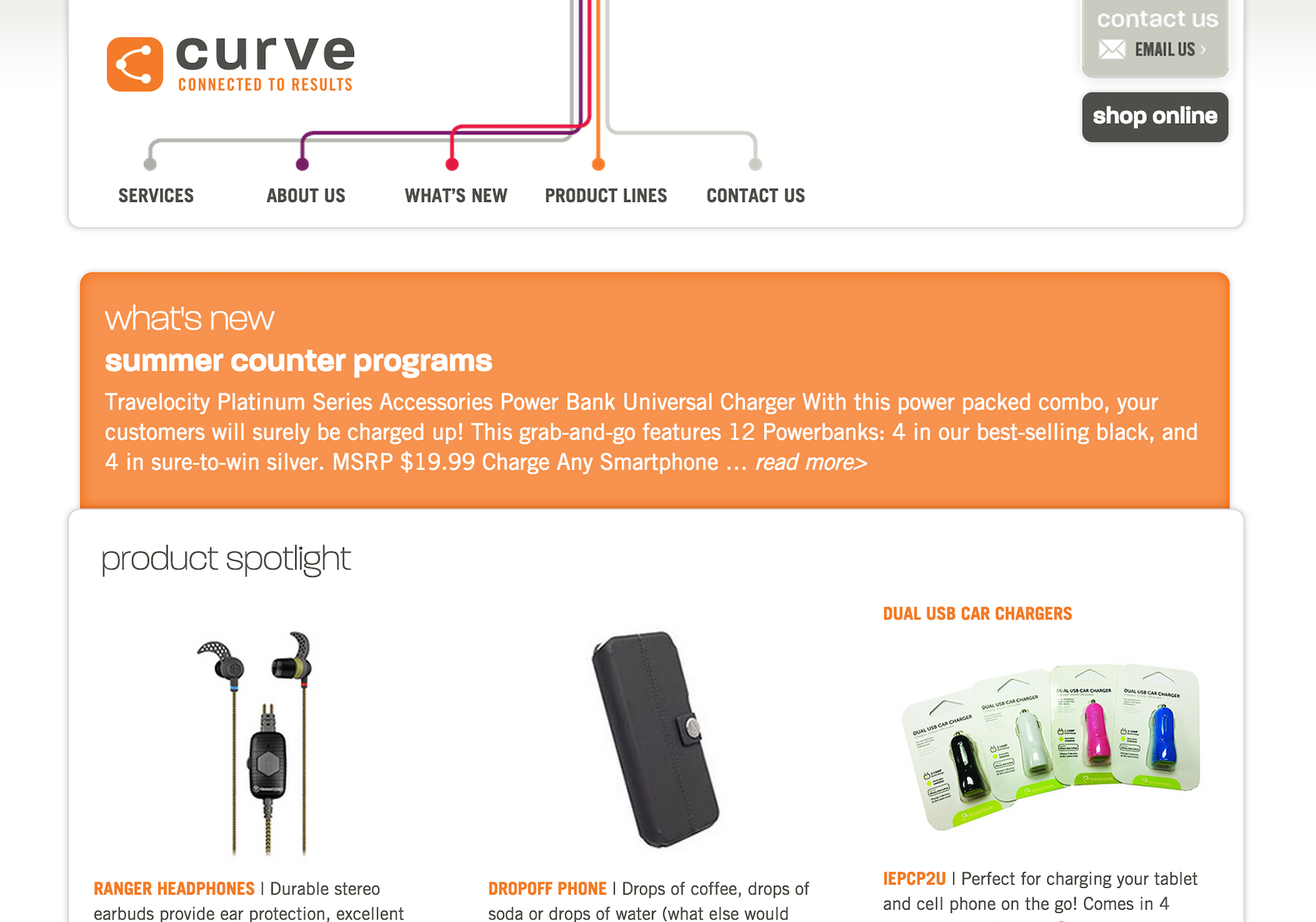 Curve distribution services website