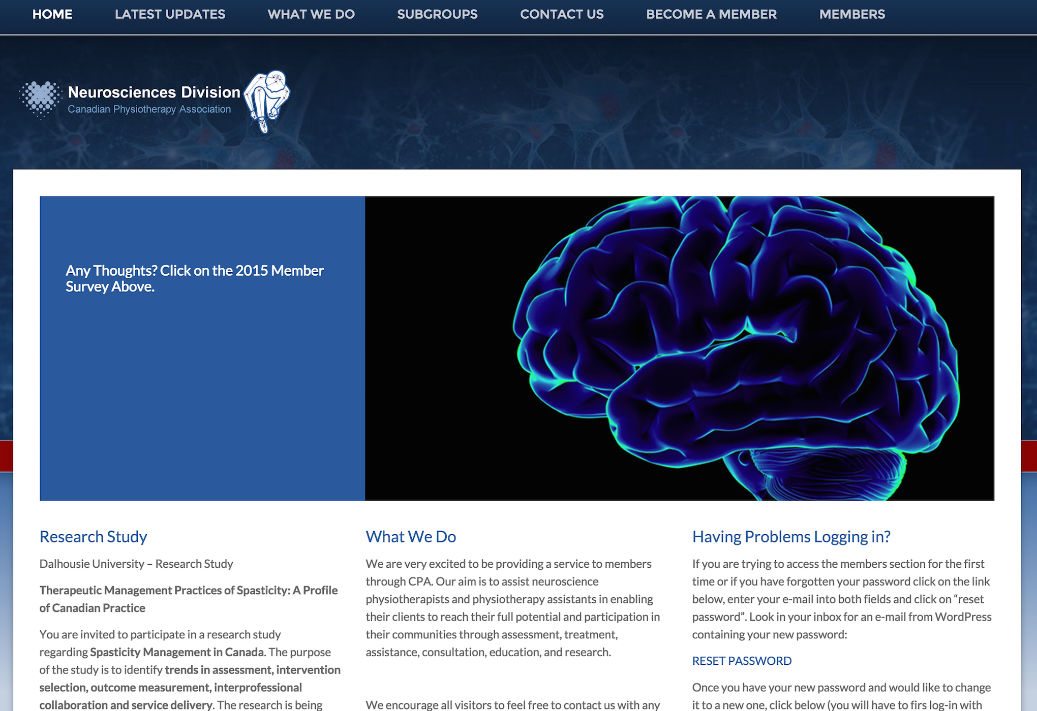 Neurosciences Division of the Canadian Physiotherapy Association