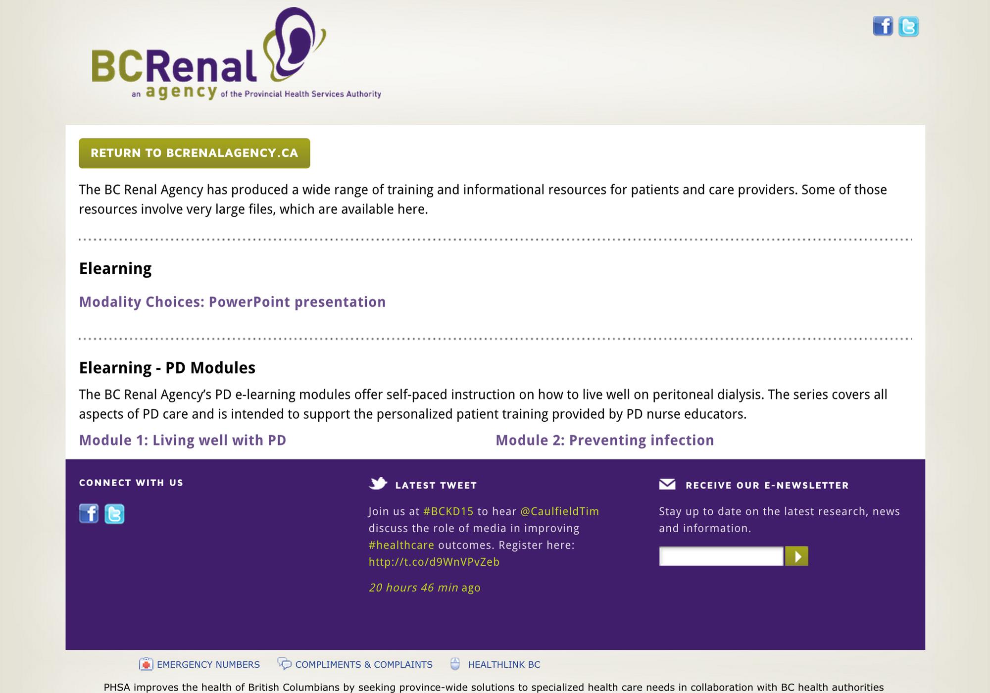PABC website screenshot