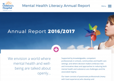 BC Children's Hospital Mental Health Literacy Team
