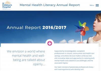 BC Children's Hospital Mental Health Literacy Team